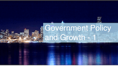 Government Policy and Growth - 1