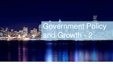 Government Policy and Growth 2