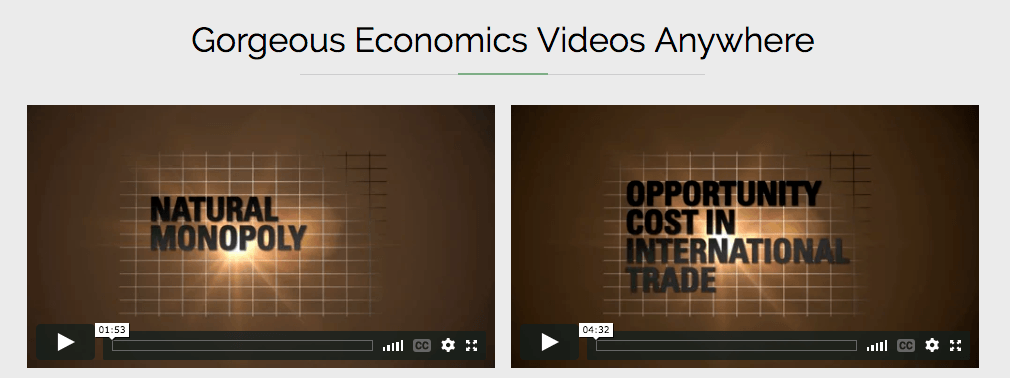 Introductory economics videos from Econblox