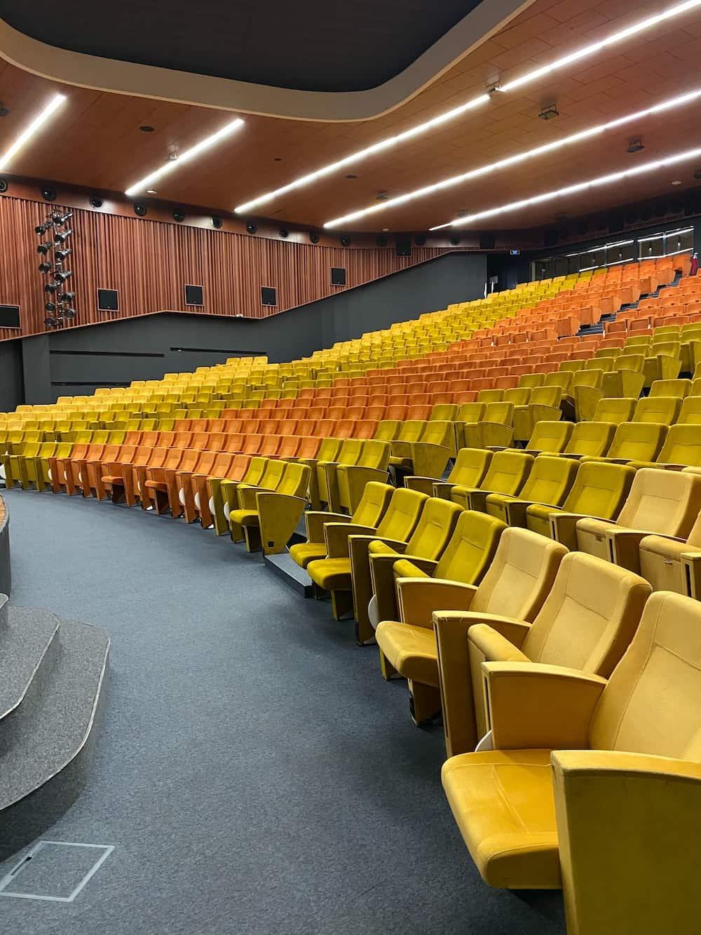 empty economics classroom